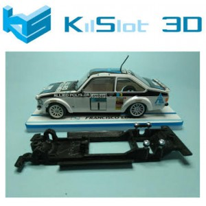 Chasis lineal black Ford Escort MKII SCX.