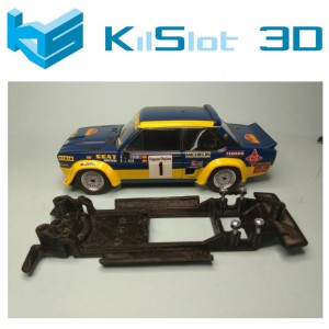 Chasis lineal black Fiat 131 abarth SCX