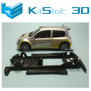 Chasis lineal black Renault Clio S1600 ninco