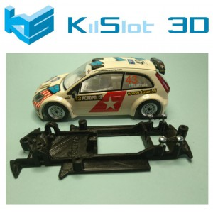 Chasis lineal black Ford Fiesta S1600 SCX