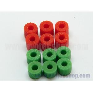 Separadores 3D PLA 5 y 6mm 3/32 (6 de cada)