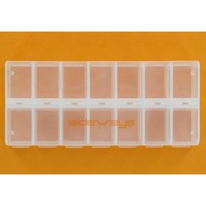 Caja de 14 compartimentos con cierre