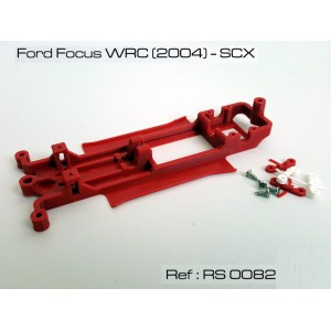 CHASIS 3D Ford Focus WRC 2004 SCX Red Slot RS-0082