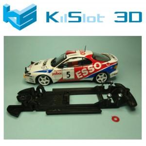 Chasis lineal black Toyota Celica ST185 Team Slot Kilslot Ks-BC1B