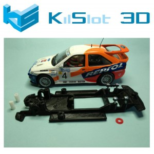 Chasis lineal black Ford Escort RS Cosworth SCX Kilslot Ks-BC3B