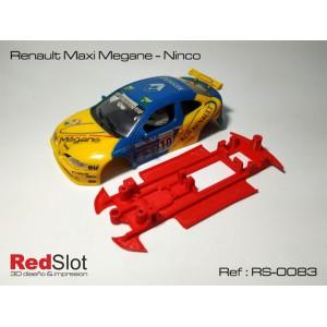 CHASIS 3D - RENAULT MAXI MEGANE NINCO RED SLOT RS-0083