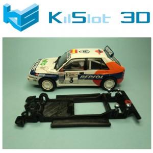 Chasis lineal black Lancia Delta Integrale SCX Kil Slot Ks-CD1B