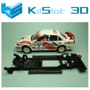 Chasis lineal black Mitsubishi Lancer Evo IV SCX Kilslot Ks-CE3B