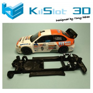 Chasis lineal black Seat Cordoba WRC SCX Kilslot Ks-CC1B
