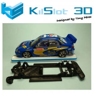 Chasis lineal black Subaru WRC SCX Kilslot Ks-CS3B
