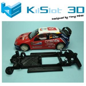 Chasis lineal black Citröen Xsara WRC SCX kilslot Ks-CX2B