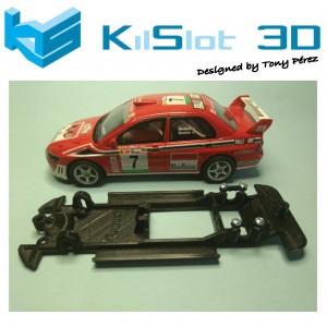Chasis lineal black Mitsubishi Evo VII SCX Kilslot Ks-CE2B