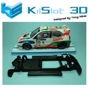 Chasis lineal black Toyota Corolla WRC SCX Kilslot Ks-CT1B