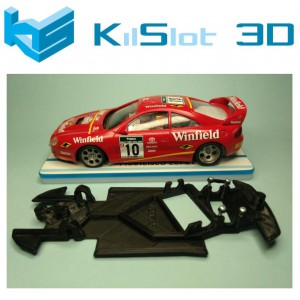Chasis angular BLACK Celica GT Four ST205 Ninco Kilslot KS-BC2A