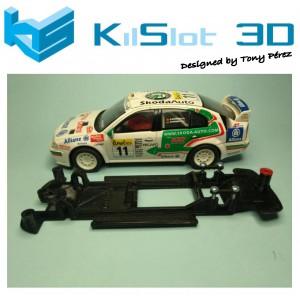 Chasis lineal black Skoda Octavia WRC SCX kilslot Ks-CS4B