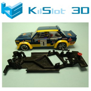 Chasis angular BLACK Fiat 131 abarth SCX