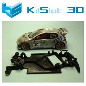 Chasis angular BLACK Peugeot 206 WRC SCX