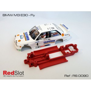 CHASIS 3D BMW M3 E30 Fly Red Slot RS 0090