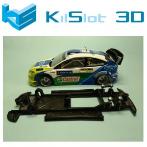 Chasis lineal black Ford Focus WRC NINCO
