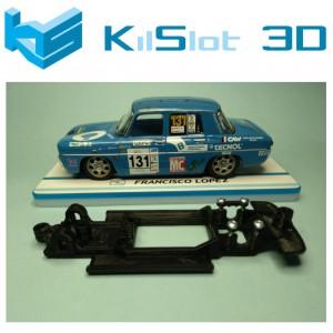 Chasis lineal black Renault 8 TS SCX Kil slot