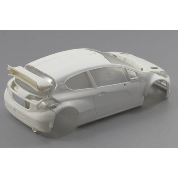Scaleauto peugeot 208 t16 white racing kit sc6149 for 16 box auto