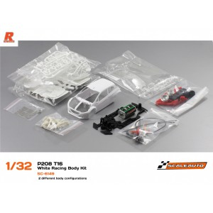 Scaleauto Peugeot 208 T16 White Racing Kit