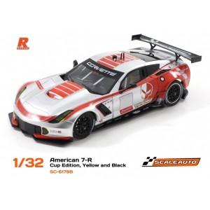 Scaleauto SC 6179B Corvette C7R GT3 Cup Edition Silver/Red RVersionAW