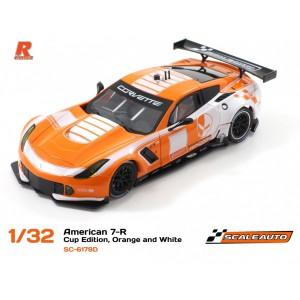 Scaleauto SC 6179D Corvette C7R GT3 Cup Ed Orange/White R-Version AW