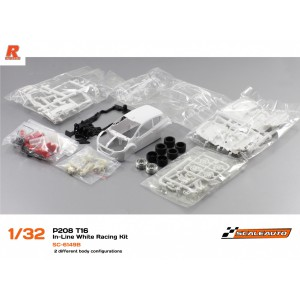 Scaleauto Peugeot 208 T16 White Racing Kit INLINE