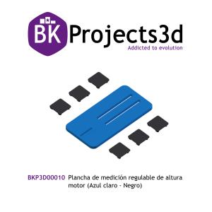Plancha de medición regulable de altura motor