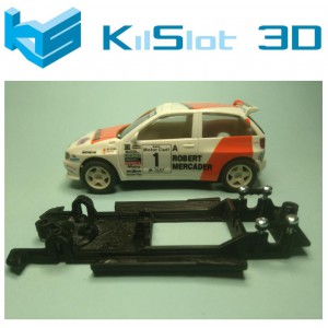 Chasis lineal black Seat Ibiza Kit car SCX