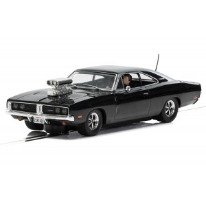 Scalextric Dodge Charger (gloss black) with blower