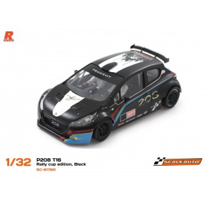Scaleauto SC 6178A Peugeot 208 T16 Cup White/Black