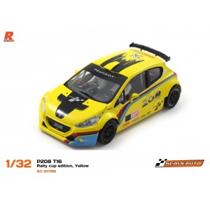 Scaleauto SC6178B Peugeot 208 T16 Cup Yellow/Black