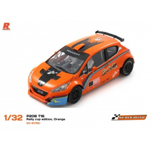 Scaleauto SC6178C Peugeot 208 T16 Cup Orange/Black