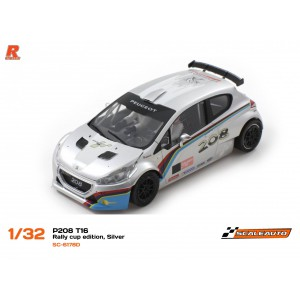 Scaleauto SC6178D Peugeot 208 T16 Cup Silver/White