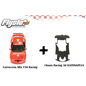 Carrocería Alfa 156 Fly+ chasis 3D Sloting plus