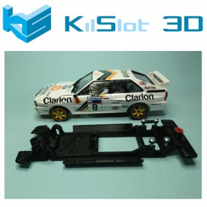 Chasis lineal black Audi Quattro A2 Teamslot