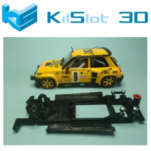 Chasis lineal black Renault 5  Turbo Teamslot