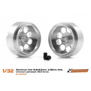 Llanta Aluminio 15,8x8,5mm. Lightweight Eje 3/32