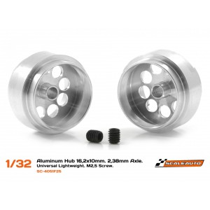 Llanta Aluminio 16,2x10mm. Lightweight Eje 3/32