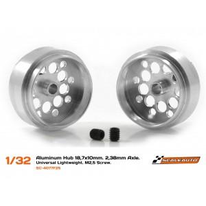 Llanta Aluminio 18,7x10mm. Lightweight Eje 3/32