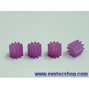 Piñones Nylon 10 dientes (x 4)