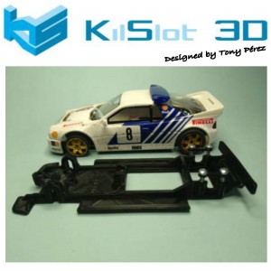 Chasis lineal black Ford RS 200  SCX