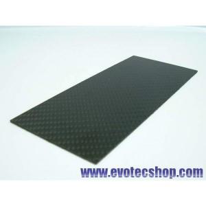 Plancha de fibra de carbono 140 x 62 x 1,5 mm