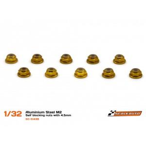 Tuercas Autoblocantes M2 con Cabeza de 4,5mm en Al