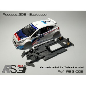 CHASIS 3D RS3 Peugeot 208 - Scaleauto (Lineal)