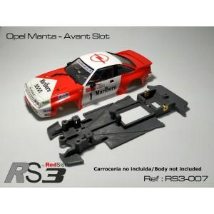 CHASIS 3D RS3 Opel Manta - Avant Slot (Lineal)