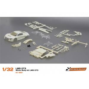 SC 3621 Carrocería Audi R8 LMS GT3 en Kit Blanca Scaleauto