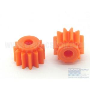 Piñon plastico 12 dientes diametro 7 mm (2 uds)